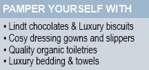 Pamper yourself at our B&B