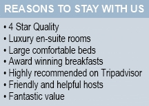 Reasons to stay at Anton House Bed and Breakfast